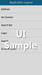 Application Layout samples