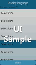 Language Change UI