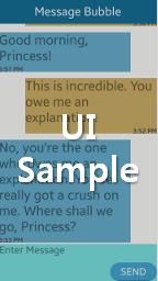 Message Bubble UI