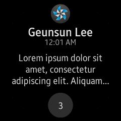 (Circle) Notification Viewer UI
