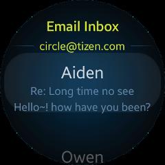(Circle) Email UI